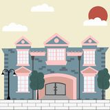 Luxury mansion royalty free illustration