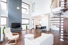 Luxury mansion in modern design royalty free stock image