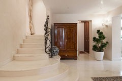 Luxury mansion, staircase. Hall of a luxury mansion, marble staircase Royalty Free Stock Photo