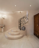 Luxury mansion, staircase. Hall of a luxury mansion, marble staircase Stock Photo