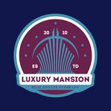Luxury mansion trendy vector label Stock Images
