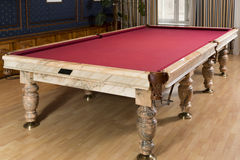 Luxury marble pool table in the a room Royalty Free Stock Photo
