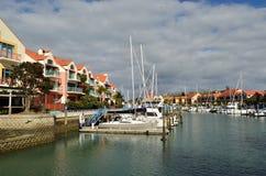 Luxury Marina. A luxury marina and housing complex Royalty Free Stock Photos