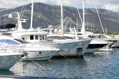 Luxury marina Stock Images