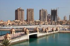Luxury marina in Porto Arabia. Doha, Qatar. Middle East Royalty Free Stock Image