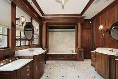 Luxury master bath. In comtemporary suburban home stock photo