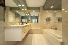 Luxury master bath Royalty Free Stock Photography