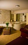 Luxury Master Bath. Luxurious master bathroom with sunken tub stock photo