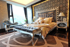 Luxury master bedroom Royalty Free Stock Photography