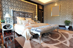 Luxury master bedroom Royalty Free Stock Photos