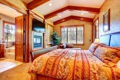 Luxury master bedroom interior Royalty Free Stock Photo