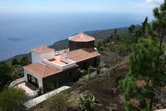 Luxury Mediterranean villa Stock Images