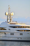 Luxury mega yacht Stock Images