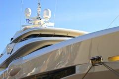 Luxury mega-yacht royalty free stock photos