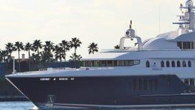 Luxury Mega Yacht Miami 4k video stock footage