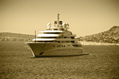 Luxury mega yacht Royalty Free Stock Photo