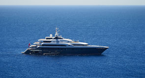 Luxury mega-yacht Stock Photos