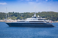 Luxury mega yacht Stock Photography