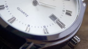 Luxury men`s watch Second hand close up. Modern quartz men`s watch macro Second hand close up.Macro shooting time stock video footage