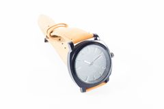 Luxury men and women watch in white background Stock Photography