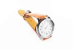 Luxury men and women watch in white background Royalty Free Stock Images
