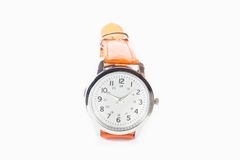 Luxury men and women watch in white background Stock Photo