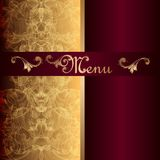 Luxury menu design in vintage style Stock Images