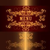 Luxury menu design in vintage style Royalty Free Stock Photos