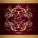 Luxury menu design  in vintage style Royalty Free Stock Photo