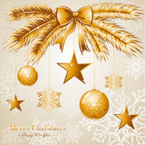 Luxury Merry Christmas background EPS10 vector fil Royalty Free Stock Photography