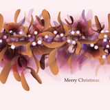 Luxury Merry Christmas card Royalty Free Stock Photography