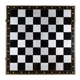 Luxury metal chess board Royalty Free Stock Images