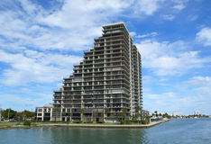 Luxury miami beach. Beatiful view of luxury miami beach condominium Royalty Free Stock Image