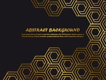 Luxury minimal background template with golden abstract shapes royalty free illustration