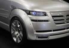 Luxury minivan. Modern minivan royalty free stock photo