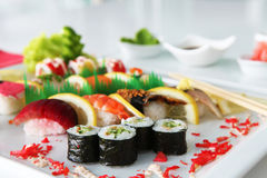 Luxury Mixed Sushi Stock Photography