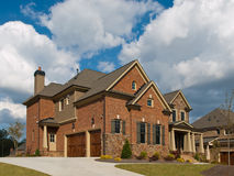 Luxury Model Home cloud sky angle view Royalty Free Stock Images