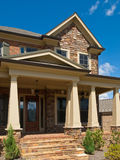 Luxury Model Home Column Exterior entrance Stock Photo