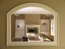 Luxury Model Home Den Opening Stock Photography