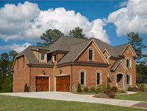 Luxury Model Home Exterior cloud sky Stock Images