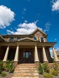 Luxury Model Home Exterior Column extreme entrance Stock Photos