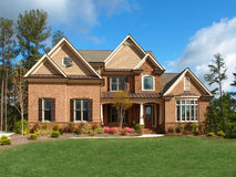 Luxury Model Home Exterior front view Stock Photos