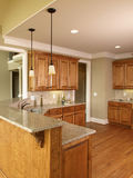 Luxury Model Home Honey Kitchen 2 Stock Photography