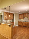 Luxury Model Home Honey Kitchen 3 Stock Images