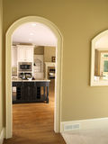 Luxury Model Home Kitchen Arch door Stock Photo