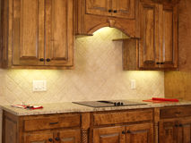 Luxury Model Home Maple Kitchen Cabinets 2 Royalty Free Stock Photo