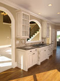 Luxury Model Home White Kitchen Royalty Free Stock Images