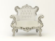 Luxury modern armchair with silver frame Royalty Free Stock Image
