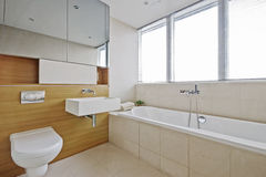 Luxury modern bathroom Royalty Free Stock Images