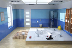 Luxury modern bathroom Royalty Free Stock Photo